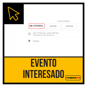 Facebook Interesados en Evento